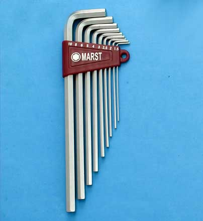 L型特長六角扳手(Extra Long Hex Key Wrench Set)